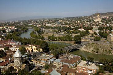 Река Кура, Тбилиси